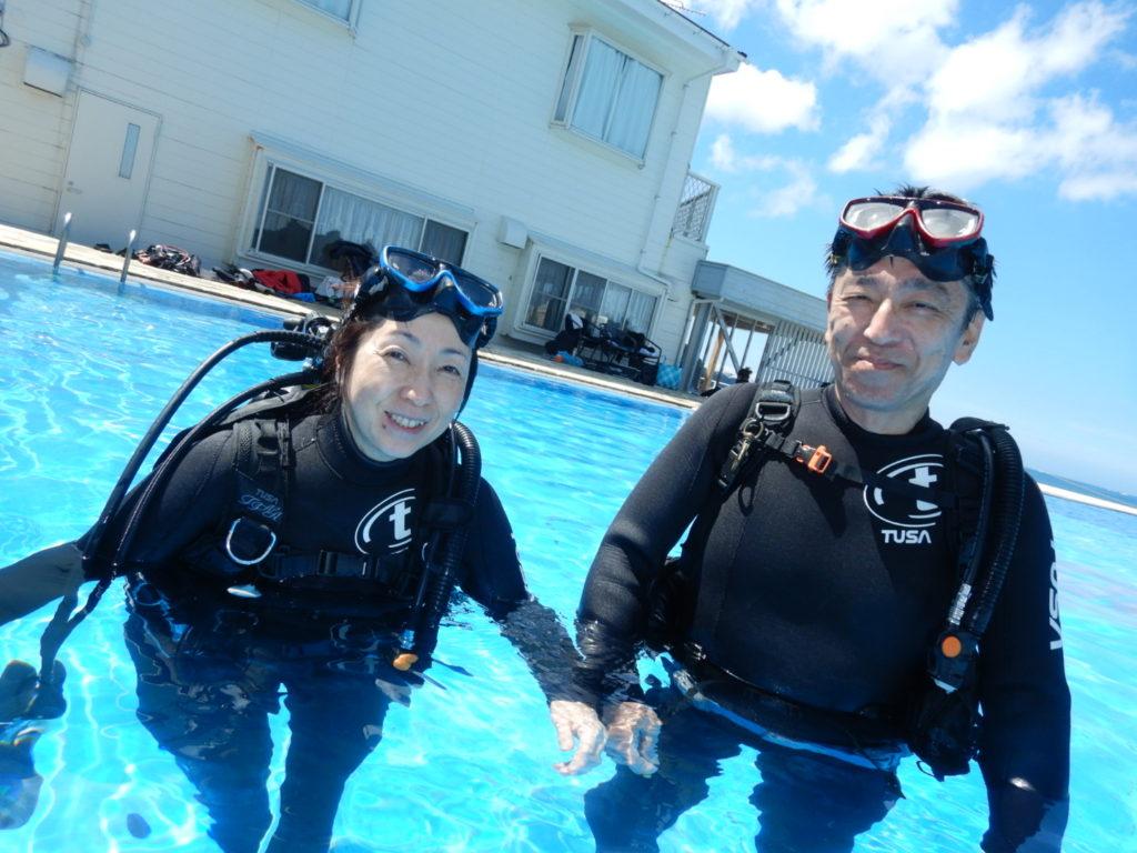 ご夫婦ダイビング